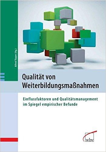 Qualität von Weiterbildungsmaßnahmen Cover